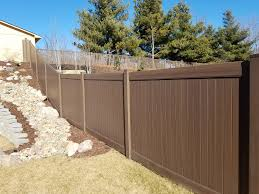 Beautiful Chestnut Brown Woodland Select Vinyl Fencing America S Fence Store
