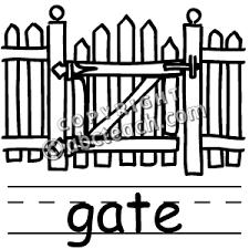 Clip Art Basic Words Gate Clipart Panda Free Clipart Images