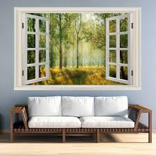 Vwaq Landscape Wall Decals Window Nature Scene Vinyl Mural For Wall