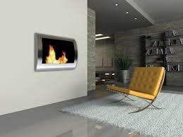 modern wall mounted fireplace ideas