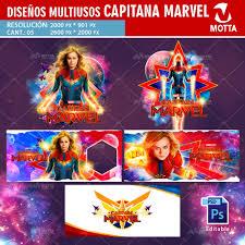 Disenos Para Tazas Y Camisetas De Capitana Marvel