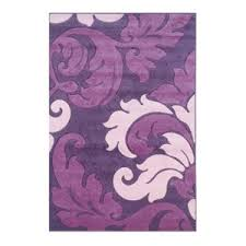 Linon Rugs Corfu Kids Area Rug In Purple And Baby Pink 8 X 10 3 Contemporary Kids Rugs By Homesquare
