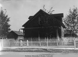 House With Picket Fence Dormers And Detached Garage University Of Alaska Fairbanks Alaska S Digital Archives