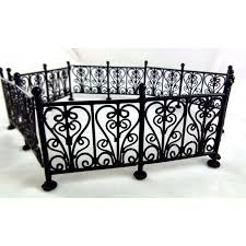 Doll Garden Furniture Black Wire Wrought Iron Fence Railings Town Square Miniatures Melody Jane Doll Houses