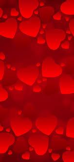 many red love hearts romantic