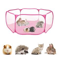 Cages Pens Pet Supplies Soundwinds Small Animal Playpen Portable Small Pet Fence Indoor Outdoor Metal Wire Exercise Yard Fence Cage For Rabbit Guinea Pigs Hamster Chinchillas