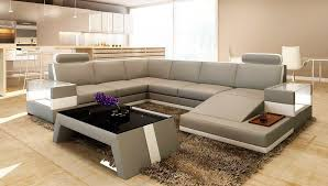 modern light grey bonded leather sofa