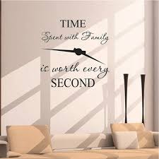 1pc Time Spent With Family Is Worth Every Second Art Wall Stickers Home Decals Wish