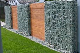 unique gabion wall garden design with