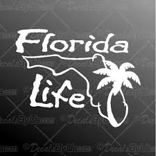 Florida Life Palm Tree Decal Florida Life Palm Tree Car Sticker Best Prices
