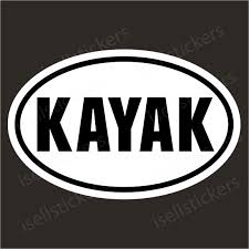 Kayak Whitewater Rafting Paddle Boat Bumper Sticker Window Decal