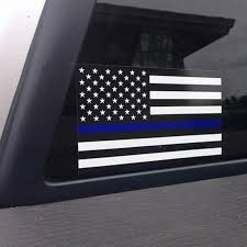 Police Officer Thin Blue Line American Flag Vinyl Decal Car Sticker O23 Car Sticker Car Decal Stickerdecals Car Aliexpress