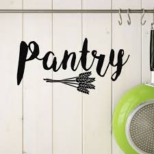 Pantry Wall Decal With Wheat Vinyl Decor Wall Decal Customvinyldecor Com