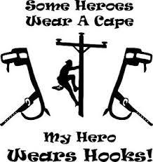 Lineman Electrician Hero Power Pole Hooks Car Truck Vinyl Decal Sticker Ebay