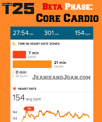 t25 calories burned per workout in the