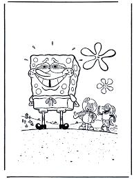 Schamende Spongebob Spongebob Kleurplaten
