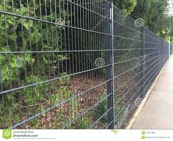 Long Metal Garden Fence Stock Photo Image Of Plant 119571664