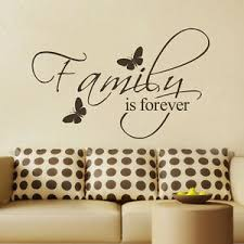Inspirational Wall Decal Family Is Forever Quote Vinyl Home Removable Art Decor Ebay