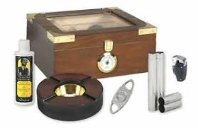 gl top cigar humidor gift set