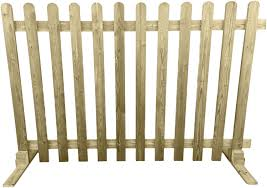Ruby Portable Freestanding Treated Wooden 6ft Picket Fence Panel 4ft High 1 Amazon Co Uk Garden Outdoors