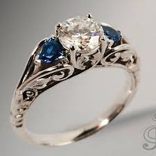 antique jewelry 925 silver white blue