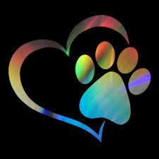 Heart Dog Cat Paw Print Pet Car Window Bumper Sticker Vinyl Decal Removable Wish