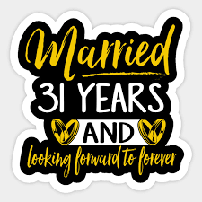 31st wedding anniversary shirt married