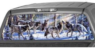 Wolf Pack In The Snow Forest Rear Window Graphic Decal Tint Etsy