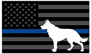 Amazon Com Thin Blue Line K9 Decal Vinyl Sticker Tactical Police Law Enforcement Reflective 5 X 5 Decal Vinyl Sticker 5 Automotive