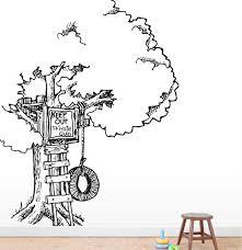 Park Lane Couture Nursery Tree House Tree Vinyl Wall Mural