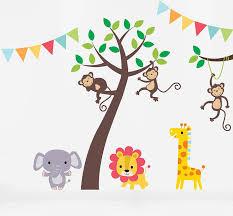 Jungle Friends Tree Wall Stickers By Parkins Interiors Notonthehighstreet Com Bouf Creche Stikers