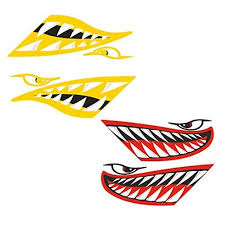 Buy Prettyia 4x Shark Teeth Mouth Funny Decal Kayak Boat Canoe Jet Ski Window Diy Sticker Features Price Reviews Online In India Justdial