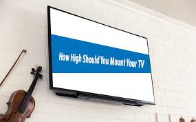 how high should you mount your tv