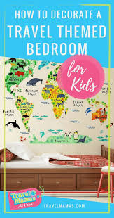 How To Decorate A Kid S Travel Themed Bedroom Travel Mamas At Home Travel Themed Bedroom Travel Themes Bedroom Themes
