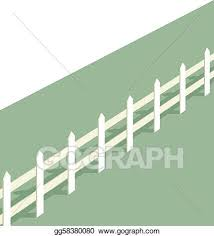 Vector Art White Picket Fence Clipart Drawing Gg58380080 Gograph