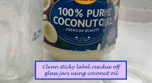 sticky label residue from glass jars