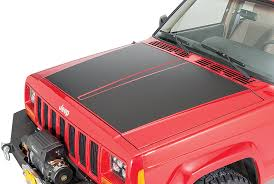 Quadratec Premium Vinyl Hood Blackout Decal For 84 01 Jeep Cherokee Xj Quadratec