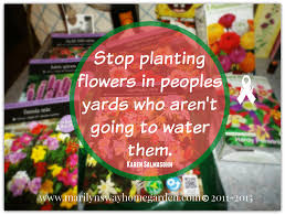 stop planting flowers in peoples yards