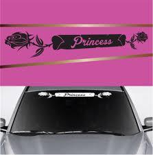 Princess Rose Heart Custom Auto Decal Topchoicedecals