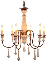 french court wooden iron chandelier