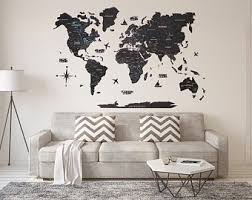 Cork World Map Etsy