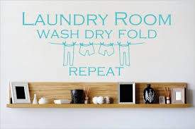 Decal Vinyl Wall Sticker Wash Dry Fold Repeat Quote 12x30 Contemporary Wall Decals By Design With Vinyl