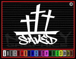 Saved Cross 2 Christian Vinyl Car Decal Noizy Graphics Christian Apparel Decals Frames More
