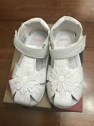 Umi Adeline White Flower Sandals Little Girls Size Eur 24 US 6 1/2 ...