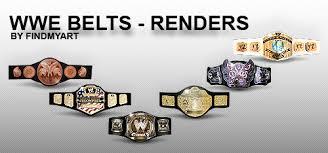 wwe belts renders by findmyart on