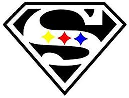 Amazon Com Super Steelers Window Decal 5 Wide Color Shown Or Choose From 12 Colors With No Background White Does Not Appear On Decal Made By Maple Creek Automotive