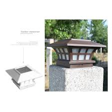 Post Lights Outdoor Fence Deck Caps Light Solar Powered Led Shopee Philippines