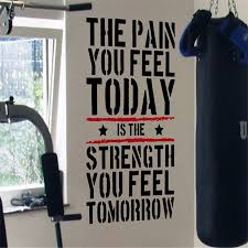 No Pain No Gain Inspirational Wall Sticker Quote Workout Exercise Sign 2 Ft X 4 Ft