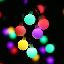 Dây đèn led 30 bóng tròn trang trí sân vườn giảm chỉ còn 132,257 đ