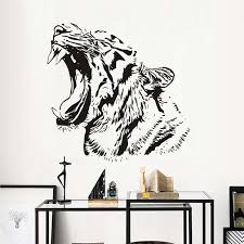Afica Animals Wildcat Tiger Wall Stickers For Kids Rooms Waterproof Re Home Decor